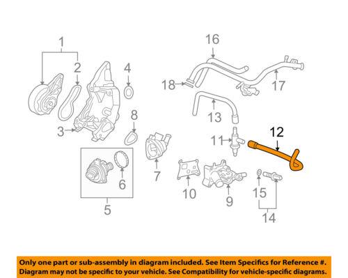 HONDA OEM 03-06 Element 2.4L-L4 Water Pump-Air Pipe 36286PZDA00