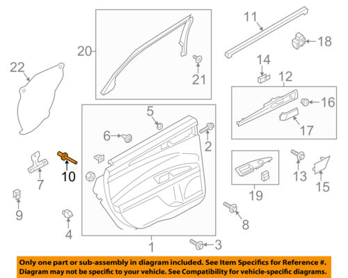 FORD OEM Interior-Side Sliding Door-Mount Bracket Rivet W716601S434