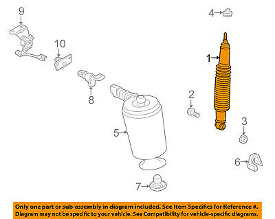 Lincoln FORD OEM 04-05 Town Car Rear-Shock Absorber 8W1Z18125D
