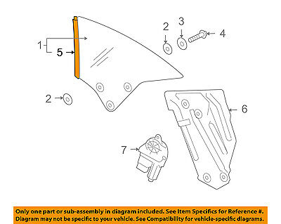 VW VOLKSWAGEN OEM 07-16 Eos Glass Hardware-Seal Strip Right 1Q0837674D