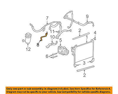 GM OEM A/C Condenser, Compressor Line-AC Outlet Pipe 15293725