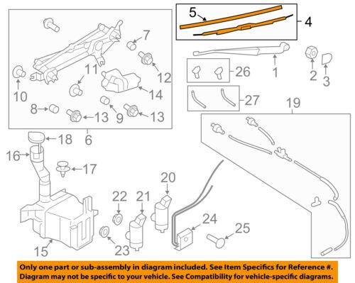 SUBARU OEM 08-14 Impreza Wiper Arm-Front Blade SOA591U224