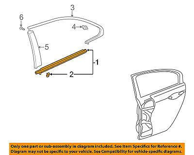 Acura HONDA OEM 09-14 TSX Rear-Window Sweep Belt Felt Molding Right 72910TL0003