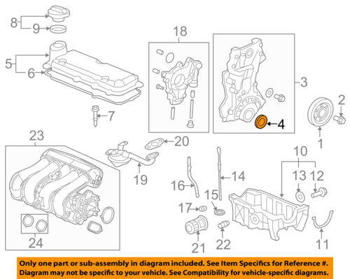 details about honda oem 15 16 fit engine crankshaft crank seal 912125r7a01 Chrysler Town & Country Engine Diagram