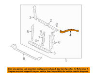 SUBARU OEM 09-16 Forester 2.5L-H4 Radiator-Lower Bracket 45124AG010