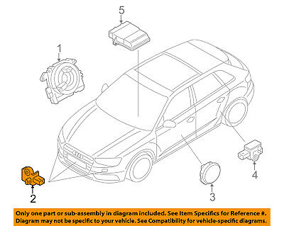 AUDI OEM 15 17 A3 Airbag Air Bag SRS Side Impact Sensor 5Q0959651B