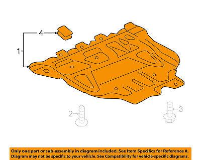 AUDI OEM 15 16 A3 Splash Shield Under EngineRadiator Cover 5Q0825236Q