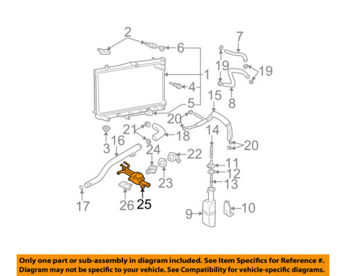 Details about HYUNDAI OEM 02-06 Elantra-Engine Coolant Thermostat Housing on
