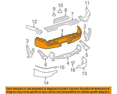 TOYOTA OEM 05-15 Tacoma Rear-Bumper 5215104061