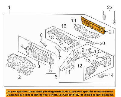 Acura HONDA OEM 91-05 NSX-Rear Body Panel 66100SL0A00ZZ