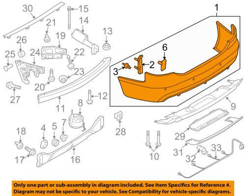 AUDI OEM 09-11 A6 Quattro Rear Bumper-Cover 4F5807303FGRU