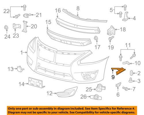 NISSAN OEM 13-15 Altima Front Bumper-Side Retainer Bracket ...