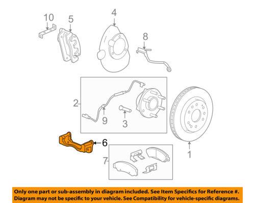 Disc Brake Caliper Bracket General Motors 25910435