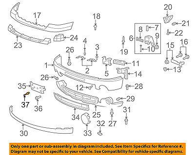 GM OEM Front Bumper-License Bracket Rivet 11516807