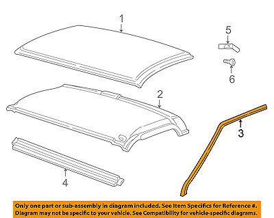 GM OEM Roof-Drip Weatherstrip Seal Molding 15012833