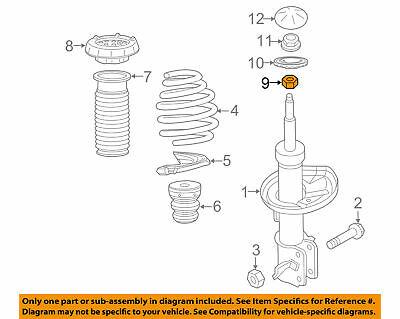 GENUINE GM ACDelco 11569637  NUT - Front Strut Rod