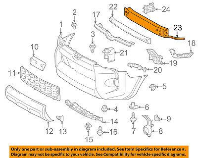 TOYOTA OEM 14-18 4Runner Front Bumper-Reinforcement 5202135140