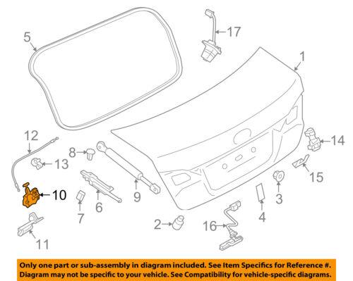 Subaru Legacy Sedan 2010-2014 OEM Trunk-Latch Lid Lock Actuator 57530AJ00A