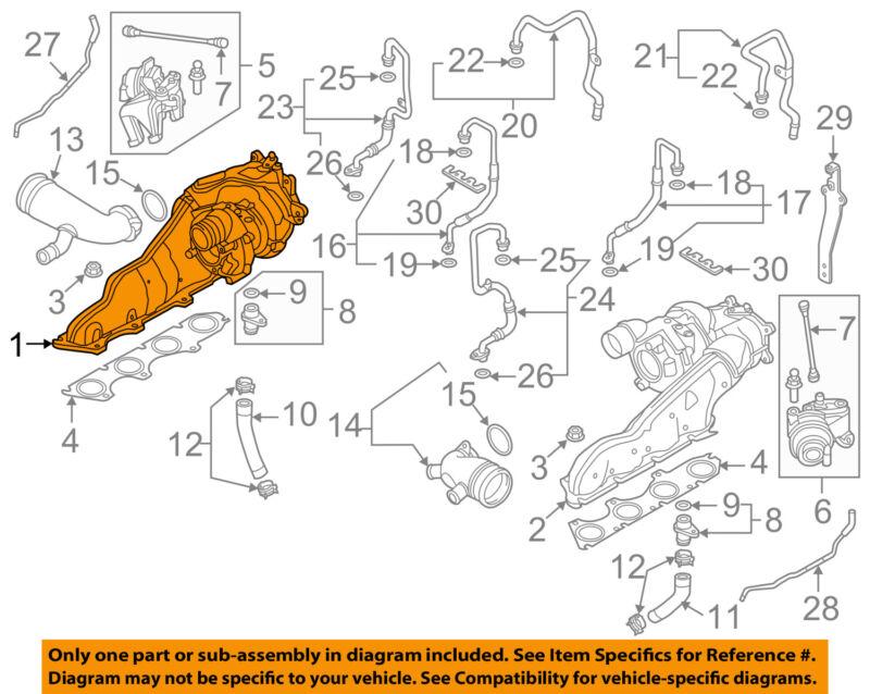 Audi Oem 14-17 Rs7-turbocharger 079145722b