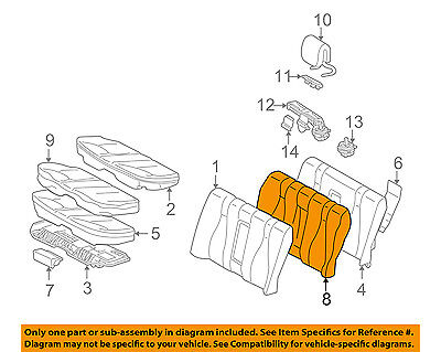 Mercedes MERCEDES-BENZ OEM S500 Rear Seat-Seat Cover-Top Back 22092082471A20