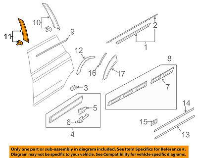 AUDI OEM 07-15 Q7 Exterior-Rear-Applique Window Trim Right 4L0839904Y9B