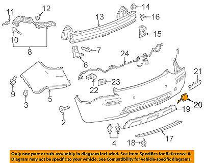 GMC GM OEM 15-16 Yukon Rear Bumper-Tow Hook Eye Cap Cover 23142972