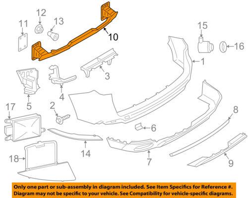 BMW OEM 14-16 X5 Rear Bumper-Impact Reinforcement Bar Rebar 5112731596