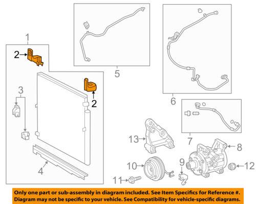 A//C AC Condenser//Compressor//Line-Condenser Assembly Upper Bracket Left