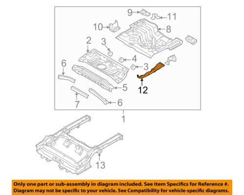 Rear HYUNDAI Genuine 65535-2H010 Towing Hook Bracket Assembly