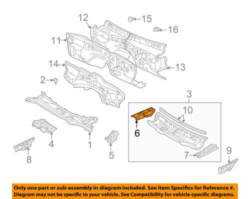 Toyota 55705-52180 Cowl Panel Sub-Assembly