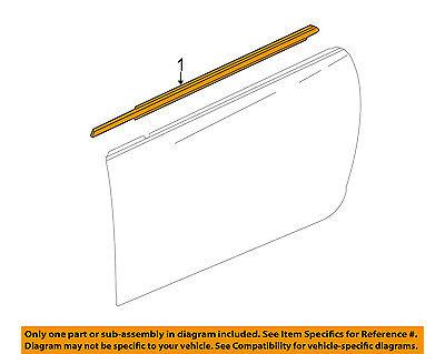 Cadillac GM OEM Door-Window Sweep Belt Molding Felt Weatherstrip Right 23283514