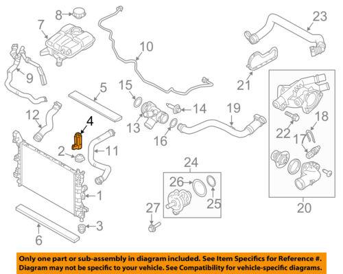 FORD OEM Radiator-Upper Bracket EJ7Z8A193A