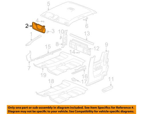 Gm OEM Interior-Sunvisor izquierda 15256832 | eBay Nissan Truck Wiring Schematics on