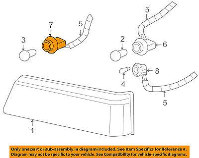 GM OEM-Headlight Headlamp Socket 19258649
