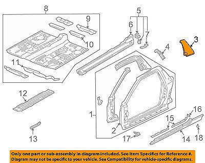 Acura HONDA OEM NSX Pillars, Rocker Floor-Lock Pillar Trim Left 72575SL0T01ZZ