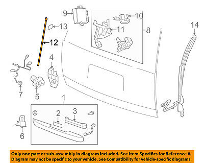 07-14 GM 15852021 SUV Retractable Cargo Shade Tan Requires Power Gate Suburban
