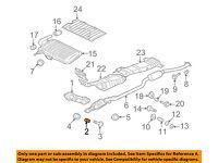 MITSUBISHI OEM Lancer Exhaust System-Catalytic Converter /& Pipe Spring MR431024