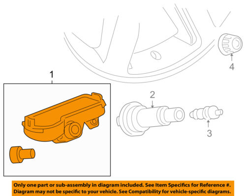 Tire Pressure Sensors TPMS Set of New OEM For GM 23445327 One Year Warranty 4