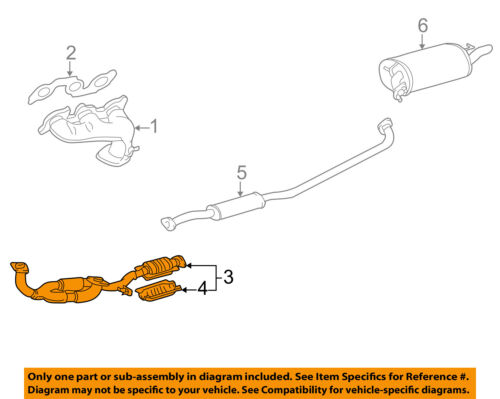Toyota Oem 98 99 Avalon 3 0l V6 Exhaust System Front Pipe