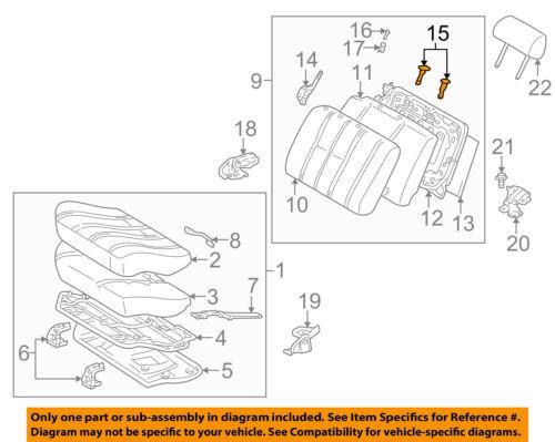 TOYOTA Genuine 71931-12040-P6 Headrest Support