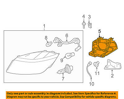 GM OEM Headlight Head Light Lamp-Mount Bracket Left 16532519