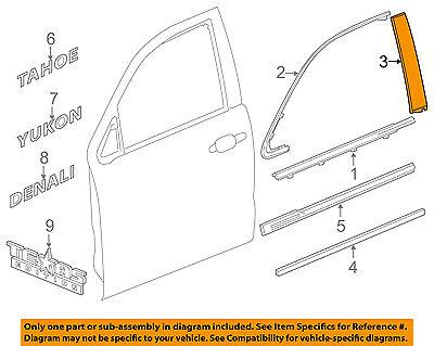 Oem Right Door (GM OEM Front Door-Applique Window Trim Right 84263145 )