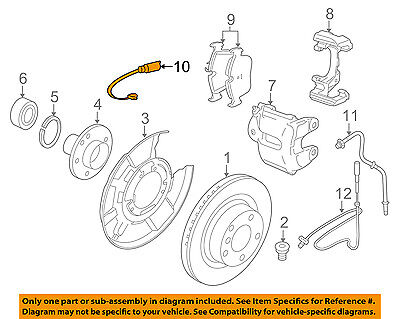 BMW OEM 12-15 328i ABS Anti-Lock Brake-Sensor 34356792292
