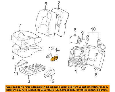 Buick GM OEM 01-05 Park Avenue Front Seat-Switch Bezel 88893218