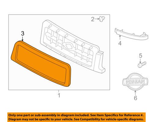 Genuine Nissan Parts 62382-4W300 Grille Molding
