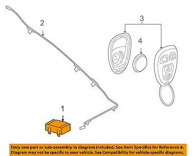 GM OEM Keyless Entry-Receiver 20803735