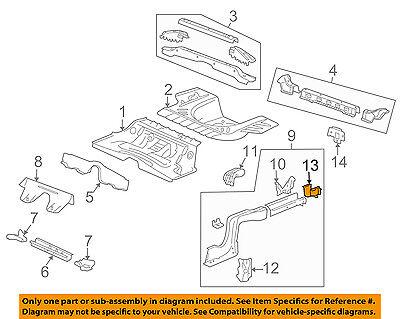 Cadillac GM OEM 03-14 CTS Floor Rails-Rear-Rail End 25939952