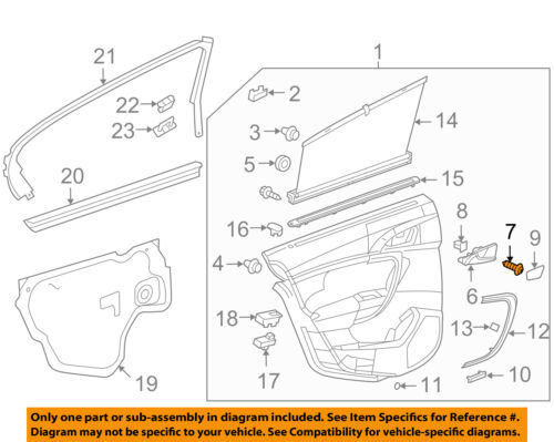 Inside Cap 22812774 GM OEM Interior-Rear Door-Handle