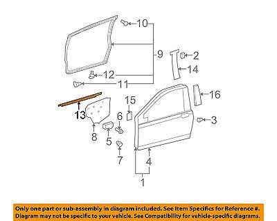 Oem Right Door (TOYOTA OEM Yaris-Door Window Sweep-Belt Molding Weatherstrip Right 6816052110 )