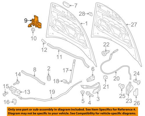 Genuine Porsche Cayenne Hood Lock Latch Striker Hook Lid Lock Front 95851148001